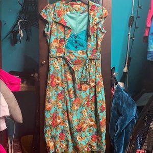 Lindy Bop floral bodycon dress